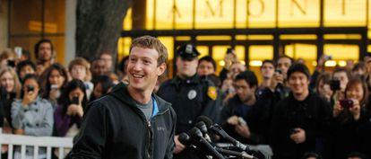 Mark Zuckerberg, el pasado mes de noviembre en la Universidad de Harvard.