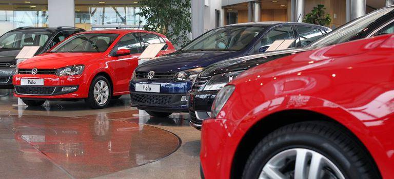 Un concesionario de Volkswagen.