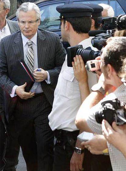 El juez Baltasar Garzón, a su llegada al Tribunal Supremo.
