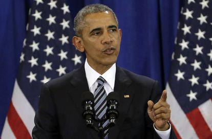 El presidente Obama durante un discurso este martes.