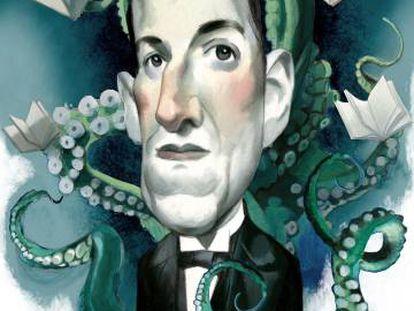 H. P. Lovecraft, por Fernando Vicente.