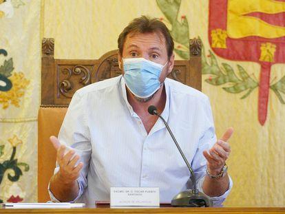 El alcalde de Valladolid, Óscar Puente, en una rueda de prensa. AYUNTAMIENTO DE VALLADOLID 09/09/2021
