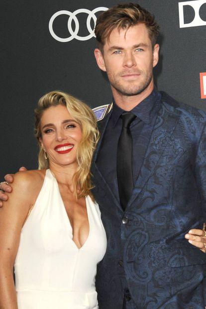 Elsa Pataky y Chris Hemsworth, el pasado abril en la presentación de la nueva cinta de 'Los Vengadores'.