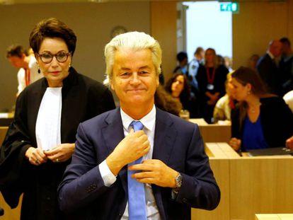 El ultraderechista Geert Wilders en Schipol (Holanda), la semana pasada.