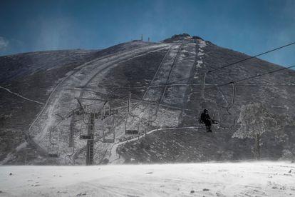 Vista de la estación de Navacerrada.