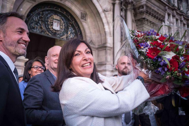 La reelegida alcaldesa de París, Anne Hidalgo.