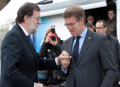 Rajoy y Feijóo.