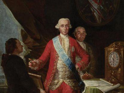 Retrato que pintó Goya de José Moñino y Redondo, primer conde de Floridablanca, uno de los directores del Banco San Carlos.