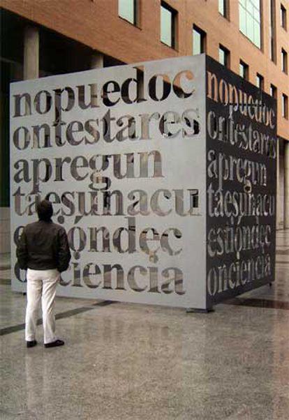 Obra de Liam Gillick, para Alcobendas (Madrid).