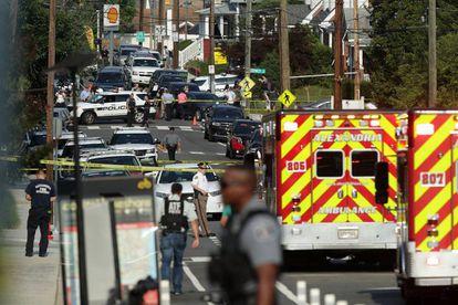 Área donde se produjo el tiroteo contra congresistas republicanos este miércoles.