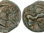 Moneda gala hallada en el yacimiento de Dessobriga.