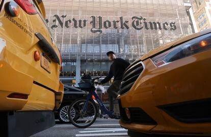 Fachada del diario 'The New York Times' en Nueva York (EE UU).