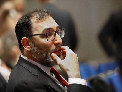 El juez Eloy Velasco, en el II Congreso de la Abogacía madrileña, hoy. Vídeo: conferencia del juez Velasco.