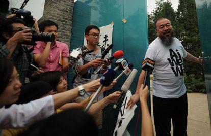 Ai Wei Wei, en su estudio de Pekín el pasado junio.