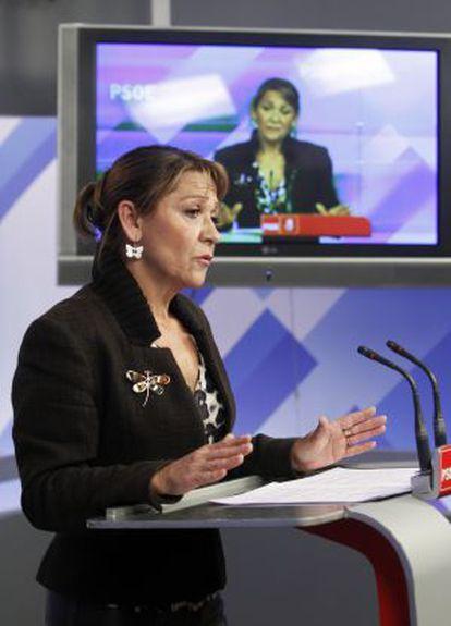 La portavoz de Economía del PSOE en el Congreso, Inmaculada Rodríguez-Piñero.