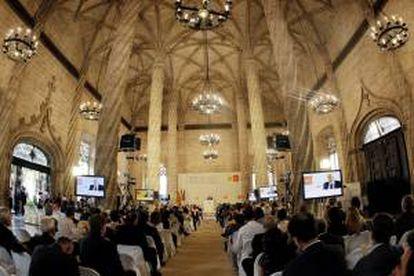 Imagen de un acto en la Lonja de la Seda de Valencia. EFE/Archivo
