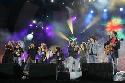 Un momento del espectáculo <i>Los Nº 1 de 40 en concierto</i><b>, que celebró la semana pasada en Madrid las cuatro décadas de 40 Principales.