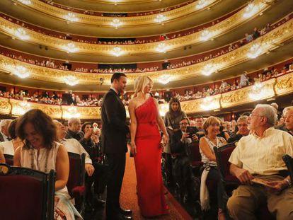 El interior del Teatro Liceo de Barcelona