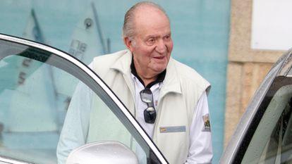 Juan Carlos I en Sanxenxo en julio de 2019.