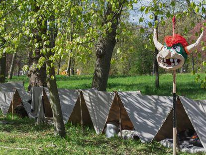 Imagen de un campamento de verano para niños.