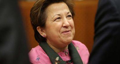 Pilar Farjas el 1 de diciembre, en Bruselas.