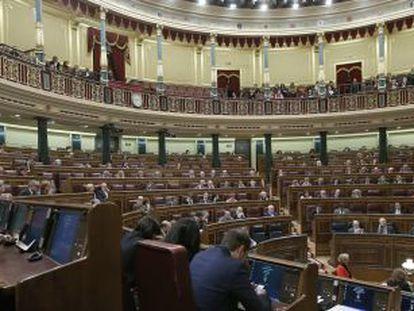 El hemiciclo, durante una sesión de control al Gobierno.