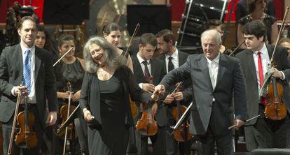 Martha Argerich y Daniel Barenboim, en el Teatro Colón.