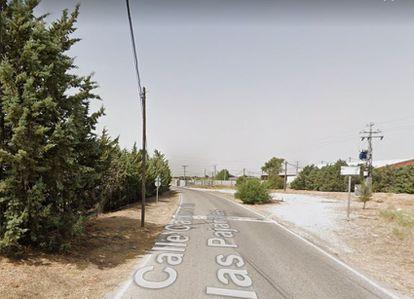 Camino de las Pajarillas de Móstoles, vía en la que ha sido encontrado un cadáver GOOGLE MAPS 09/09/2020