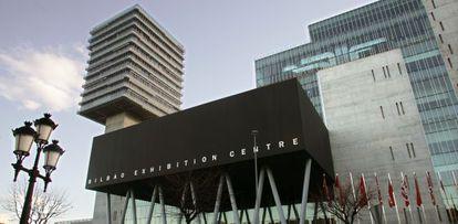 Acceso al Bilbao Exhibition Ceber (BEC), en Barakaldo.
