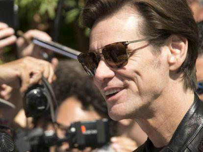 El actor Jim Carrey en el Festival de Cine de Venecia en septiembre.