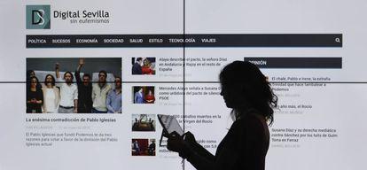 Vista de la portada de 'Digital Sevilla'.