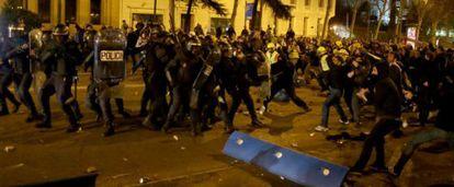 Incidentes desde el tramo que va de la plaza de Colón y Cibeles.