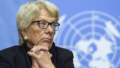 Carla del Ponte, el 1 de marzo pasado en Ginebra.