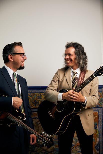Roberto y Enrique Cubero, del grupo Hermanos Cubero, en Madrid