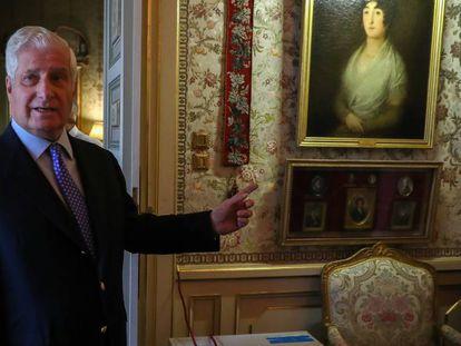 El duque de Alba, en el palacio de Liria. En vídeo, imágenes del Palacio por dentro antes de su apertura.