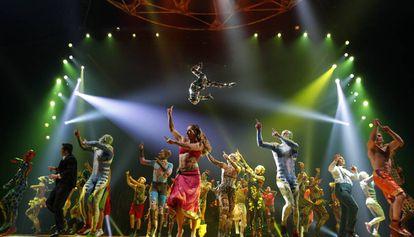 Un momento de Totem, el espectáculo de Cirque du Soleil que llega a Barcelona.