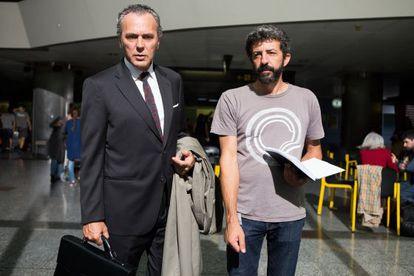 José Coronado y Alberto Rodríguez, durante el rodaje.