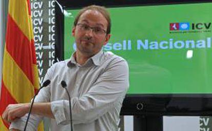 El líder de Iniciativa por Cataluña los Verdes (ICV), Joan Herrera. EFE/Archivo