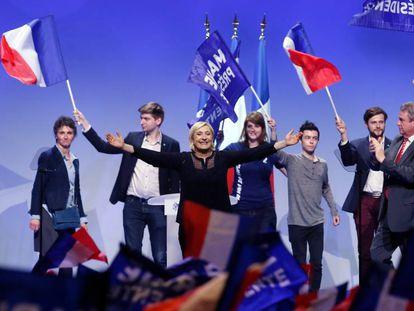 Míting del Front Nacional de Marine le Pen.