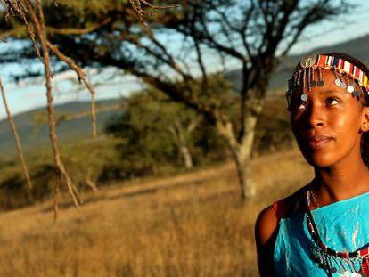 Lilian, en Ositeti (Kenia), su aldea de procedencia.