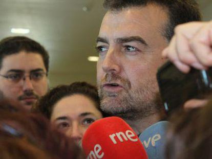 El coordinador y candidato de IU a la presidencia de la Junta, Antonio Maíllo.