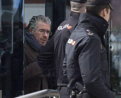 Francisco Granados, a su salida de la Audiencia Nacional tras declarar el pasado 12 de febrero.