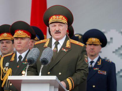 Lukashenko en el desfile militar del Día de la victoria, el pasado 9 de mayo, en Minsk.