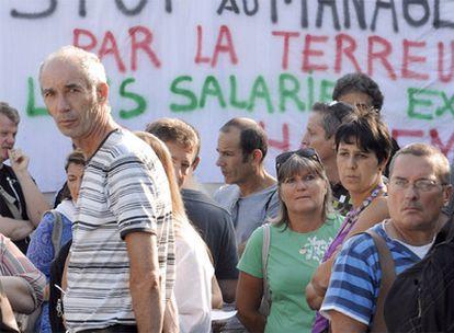 Trabajadores de France Télécom se manifestaron el 10 de septiembre en toda Francia para denunciar sus condiciones laborales. En la fotografía, una protesta en Marsella.