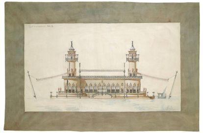 Proyecto de embarcadero que Gaudí hizo el 1876.