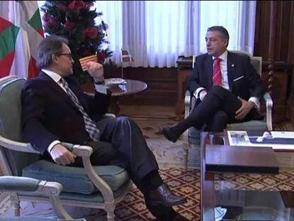Urkullu y Mas harán frente juntos al proceso recentralizador de Rajoy