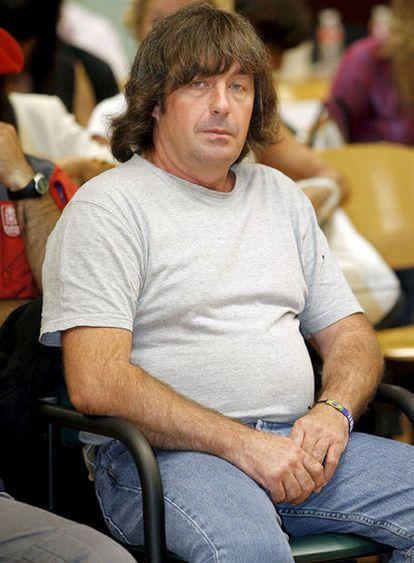 Jaime Giménez Arbe, <i>El Solitario</i>, en el juicio en Pamplona en el que se le acusa de asesinar a dos guardias civiles en 2004.