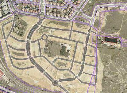 Plano ortofotográfico de una zona sobrevolada por los aviones de Hacienda y cotejada con los datos del Catastro.