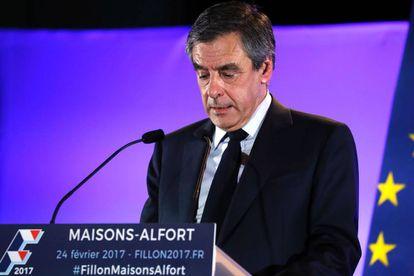 François Fillon, candidato de Los Republicanos, en un acto en Maisons-Alfort, cerca de Paris, este viernes.