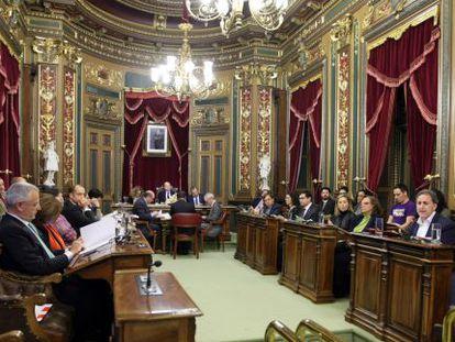 Imagen de la sesión ordinaria del pleno del Ayuntamiento de Bilbao.